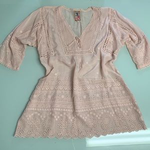 Johnny Was pink Boho dress